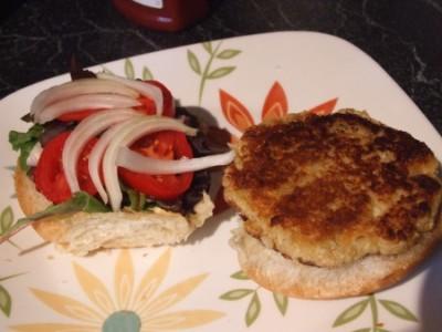 vegetarian quinoa burger