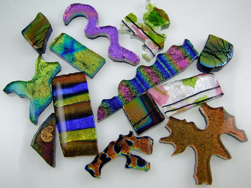 fused glass cabochons by Lynn Smythe
