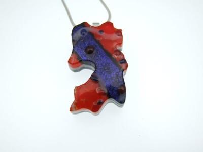 fused glass pendant by Lynn Smythe