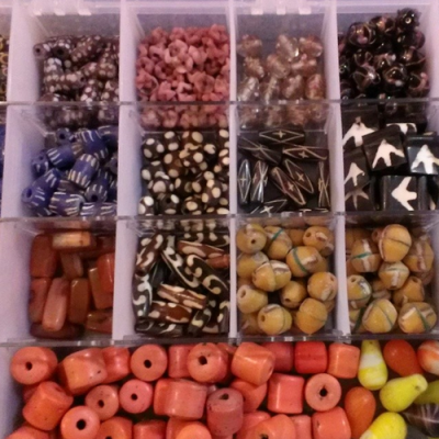 Rainbow Bandz box used to store beads