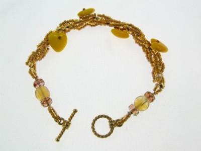 amber heart bracelet by Lynn Smythe