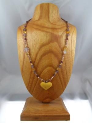 amber heart necklace by Lynn Smythe