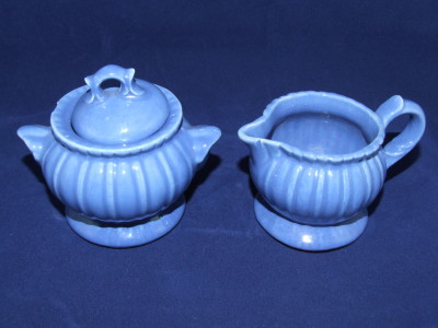 Sugar & creamer set by Stangl Pottery.