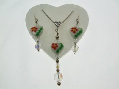 Heart jewelry set by Lynn Smythe