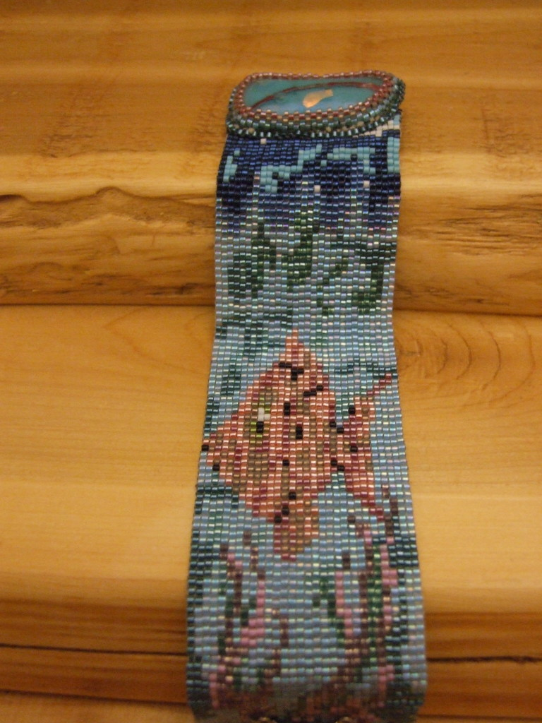Under the Seas loom woven bead pattern by Lynn Smythe.