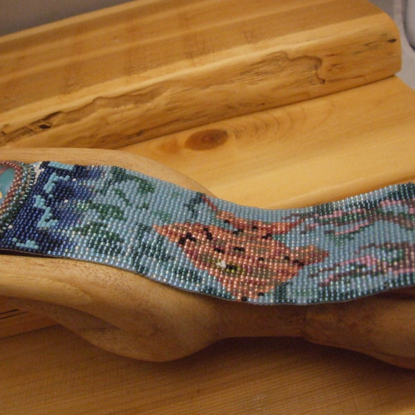 Beautiful loom woven bracelet created by Lynn Smythe, Chief Designer for The Creative Cottage.