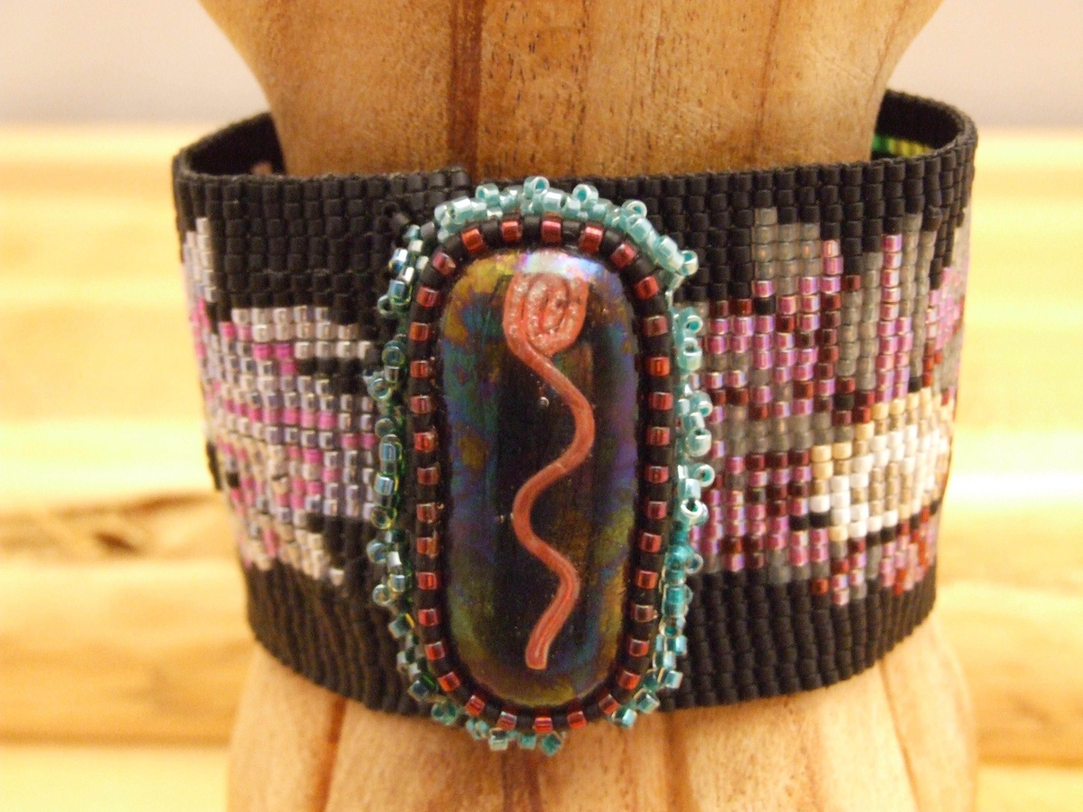 Flower Blossom Loom Woven Bracelet