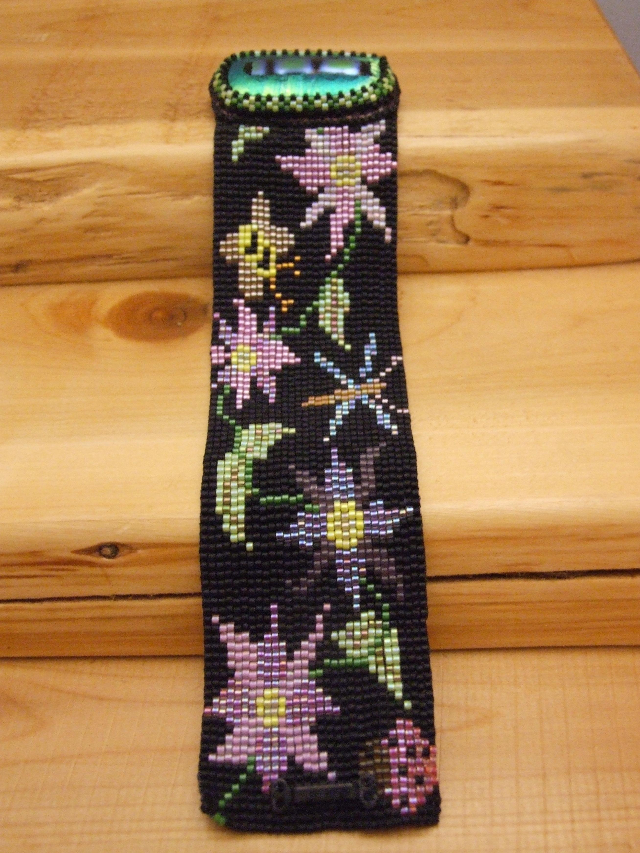 Beaded bracelet by Lynn Smythe.