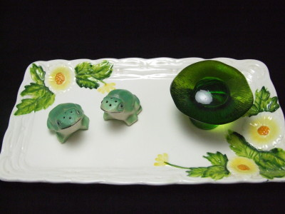 Tea tray from Lefton ceramics.