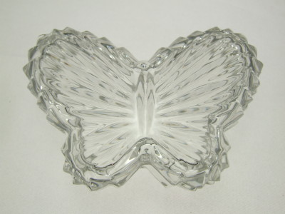 Collectible crystal butterfly trinket box.