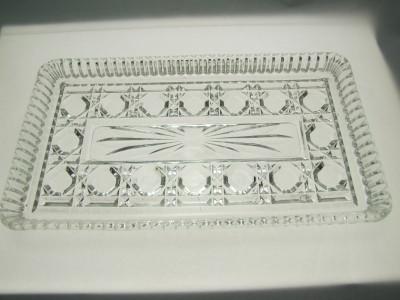 Vintage Federal Glass Tray.