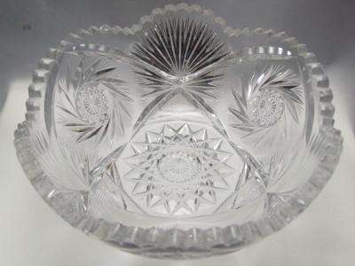 Vintage ABP cut crystal serving bowl.