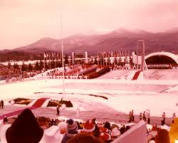 Opening ceremony for the 1980 Winter Olympics.