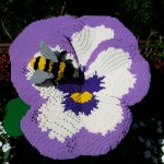 Pansy and Bee Lego sculpture by Sean Kenney