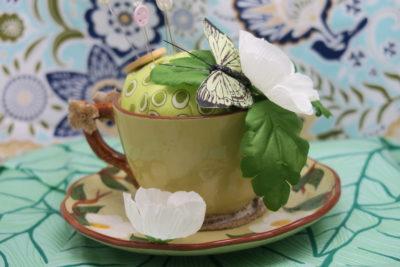teacup pincushion by Lynn Smythe