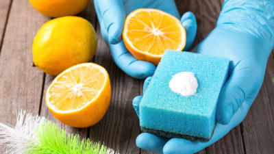 Using green cleaning products at home